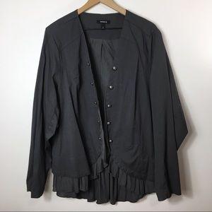 Torrid Military Style Jacket in Grey, 4
